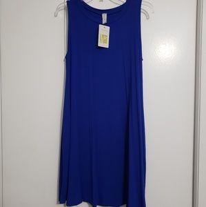 NWT - Royal Blue Bambo dress with pockets.